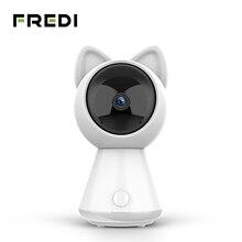 FREDI 1080P Kitty chmura kamera IP inteligentne automatyczne śledzenie kamera telewizji przemysłowej bezpieczeństwo w domu bezprzewodowa sieć WiFi kamera monitorująca