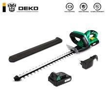 DEKO, 20 в, литиевый, 2000 мА/ч, беспроводной триммер для живой изгороди, быстрая зарядка, перезаряжаемый электрический триммер, обрезная пила с двойным лезвием/пила