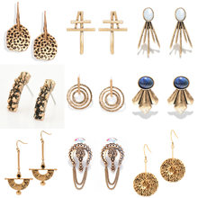 Ouro moda brincos coleção para festa de noivado feminino balançar brincos jóias acessórios das mulheres presentes para meninas