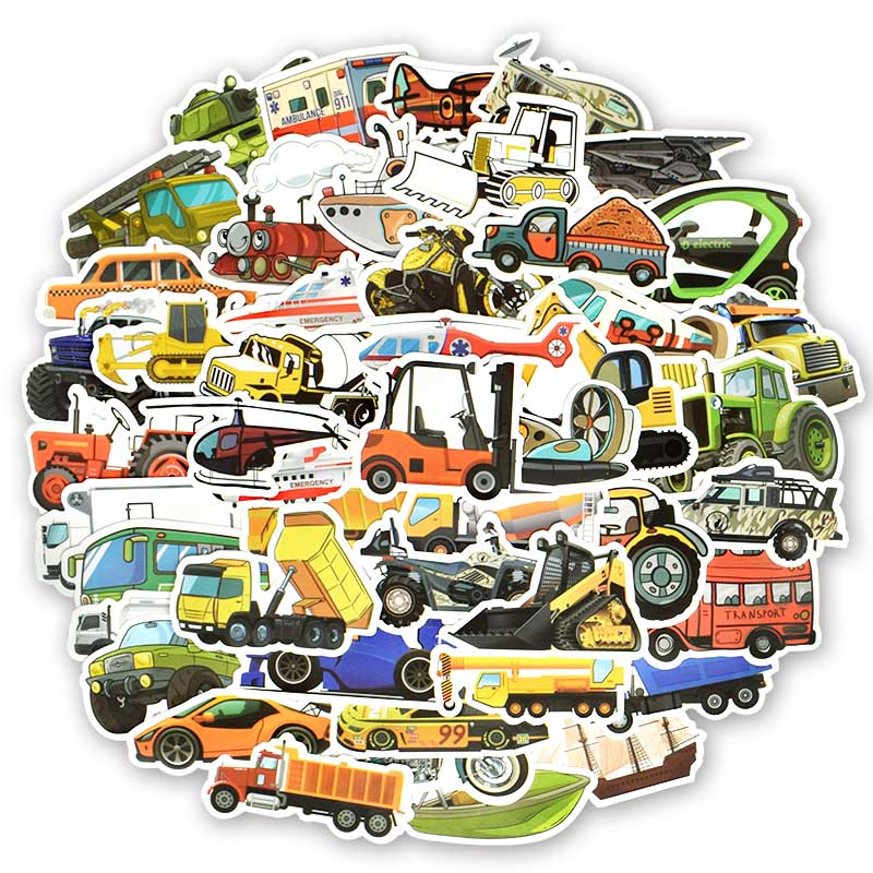 Automobile Insect Theme Stickers  50 Pcs No Repeated Waterproof  Unglued Repeatedly Pasted