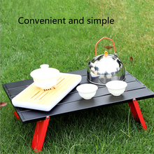 New type of mini black outdoor aluminum alloy folding table, furniture, barbecue, camping tent, household bed, folding computer