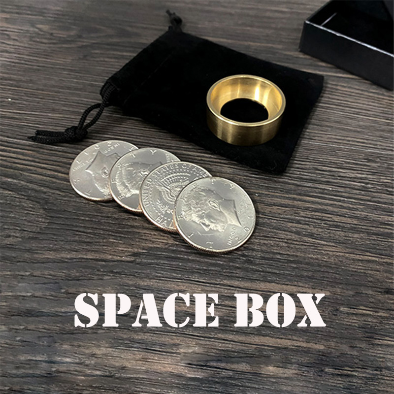 Space Box Magic Tricks Coin Appear Vanish Magia Magician Close Up Illusions Gimmick Props Mentalism Funny Magica Cylinder