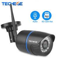 Techege 1080P Wifi Kamera 2.0MP indoor Outdoor Wasserdichte Nachtsicht Verdrahtete Drahtlose Sicherheit Video Überwachung Kamera SD Karte