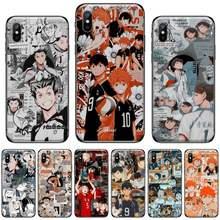 Haikyuu japão anime voleibol cliente de alta qualidade caso telefone para iphone 5 5S 5c se 6s 7 8 plus x xs xr 11 12 pro max 12mini