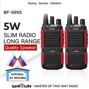 Image 1 - 2 uds Baofeng BF 999S Plus Walkies Uhf band nivel militar transceptor de radio bidireccional para seguridad, hotel,ham BF999s Actualización de 888s