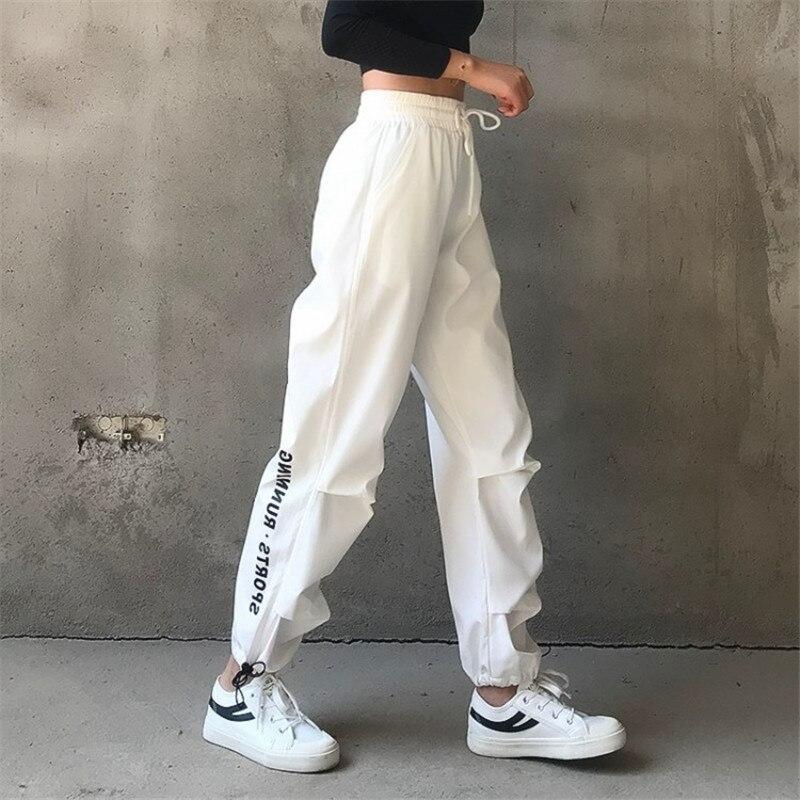 Women Cargo Pants High Waist Loose Joggers Women Pants Streetwear Punk Black Women Capris Trousers Korean Style Ladies Pants