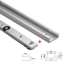 1Set in lega di alluminio t track Slot mitra Track e mitra Bar Slider Table Saw mitra Gauge Rod strumenti per la lavorazione del legno banco da lavoro fai da te