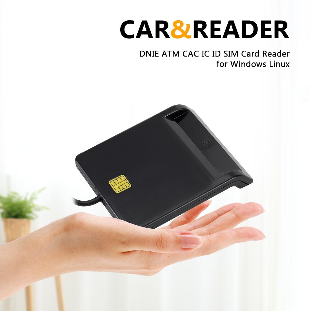 USB Smart Card Reader DNIE ATM CAC IC ID SIM Card Reader for Windows Linux Memory card accessories