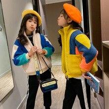 Утепленное кашемировое пальто, корейская детская одежда, хлопковое Стеганое пальто для девочек, модная верхняя одежда для девочек-подростков