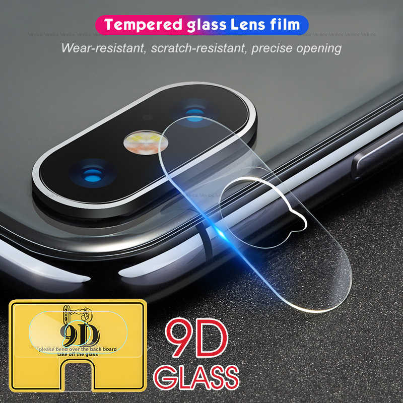 2pcs 9D Lens Protective For iPhone X XS MAX 8 7 Plus Soft Tempered Glass Camera Lens Screen Protector For iPhone XR XS 7 8 Film