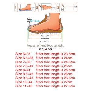 Image 5 - DEKABR prawdziwej skóry mężczyzna przypadkowi buty luksusowej marki 2021 męskie mokasyny oddychające Slip on buty do jazdy samochodem Plus rozmiar 45