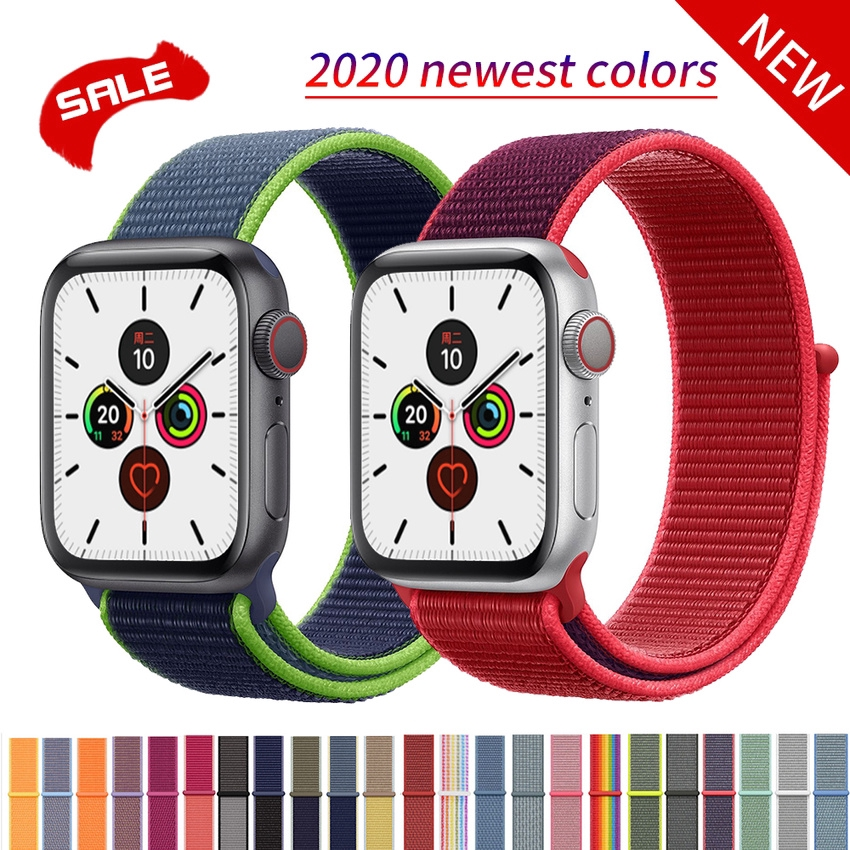 Nylon Strap For Apple Watch Band 44mm 40mm IWatch Series 5 4 Band 42mm 38mm Sport Loop Belt Bracelet Bands