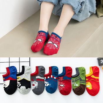 1 to 9 years old kids Cartoon socks Super hero Breathable Superman children baby stuff boys cotton Socks - discount item  23% OFF Children's Clothing