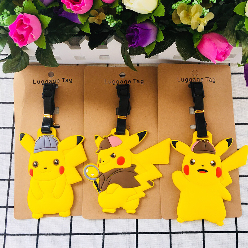 1pcs Cute Monster Anime Travel Brand Luggage Tag Suitcase ID Address Portable Tags Holder Baggage Label New