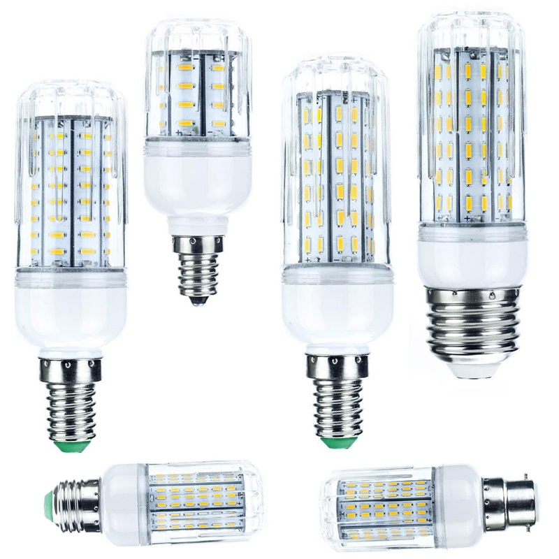 <font><b>LED</b></font> Corn Bulb E26 E27 E12 E14 10W <font><b>20W</b></font> 25W 30W 4014 SMD Light <font><b>Lamp</b></font> AC 110V 220V 36 72 96 138LEDs Replace Halogen Candle Ampoule image