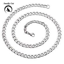 Smely Cat Punk Stainless Steel Curb Necklace Hip-hop Chain Cuban Brake Chain Menswear Rock Band Women's Statement Jewelry рубашка burton menswear london burton menswear london bu014emesuw5
