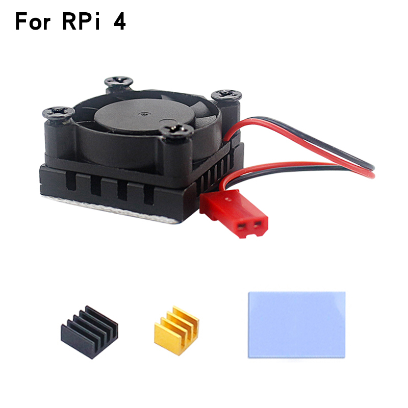 Raspberry Pi 4 Model B Cooling Fan CPU RAM Cooler + Aluminum Heatsink For Raspberry Pi 4 4B