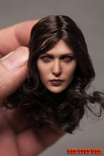 1:6 Elizabeth Olsen Scarlet Witch Red Eye Type Female Head carving Fit 12 Figure