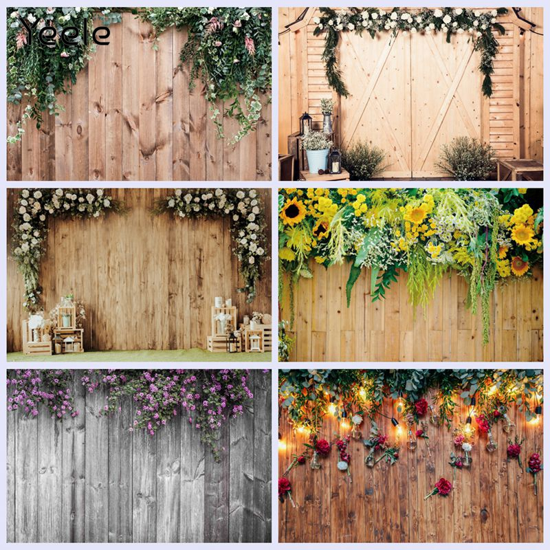 Yeele Tassel Blossom Flower Wood Board Floral Photocall Photocall Backdrop Personalized Photographic Background For Photo Studio
