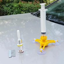 Kit de reparo do vidro do pára-brisa do carro, faça você mesmo, reparo de vidro do veículo, reparo de vidro, kit de ferramentas de restauração de rachadura do carro estilizador