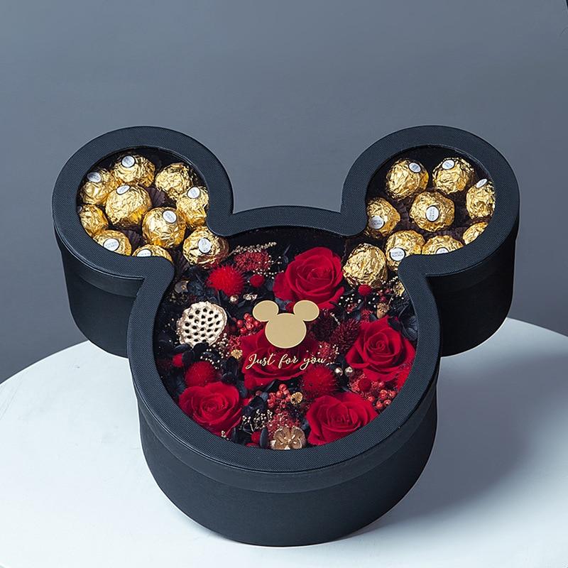 1Pcs/lot Wedding Party Anniversary 34x29cm Sweet Candy Box Minnie Gift Box Kids Girls Love Birthday Baby Shower Girl Gift Box