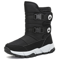 Winter Kids Shoes Furry Boots Outdoor Boys Girls Boots Flat Shoes Snow Boots Children Flats Mid Calf Boots tenis infantil