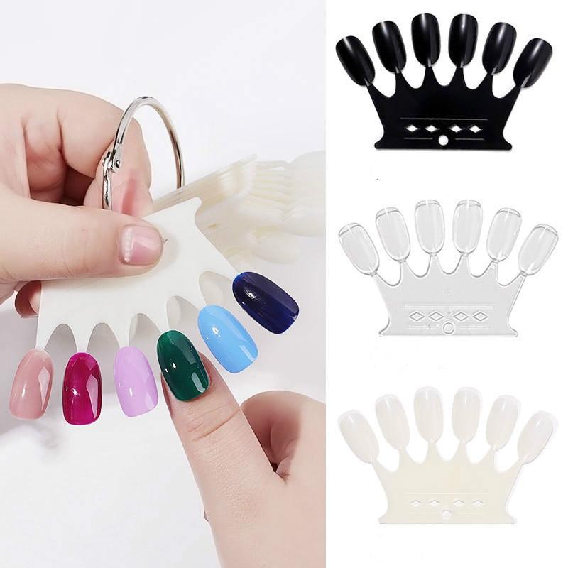 50 шт в форме короны для ногтей цветные карты прозрачные пластины