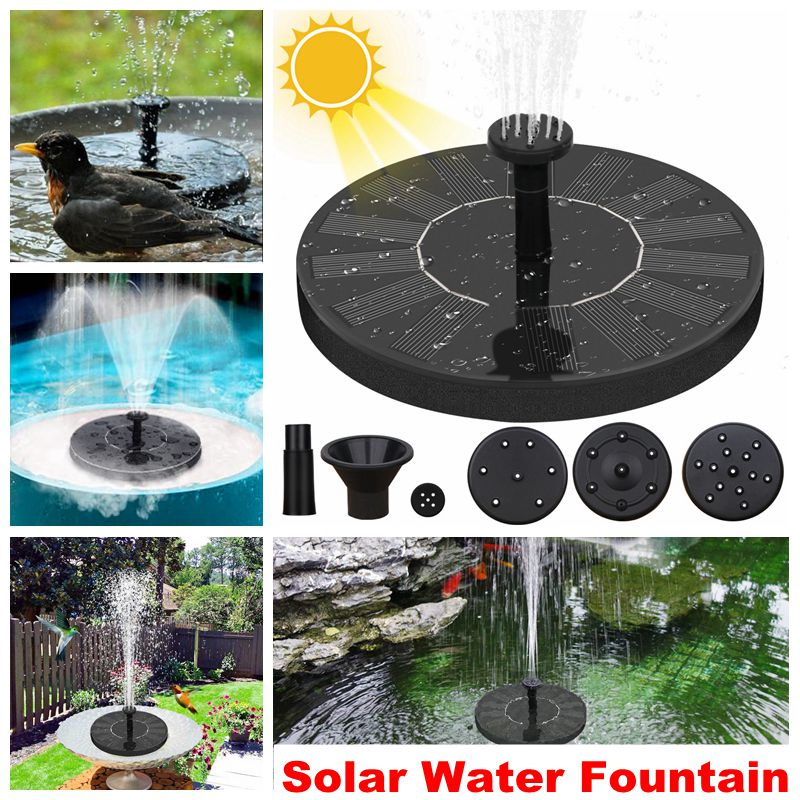 Solar Water Fountain Pool Pond Waterfall Fountain Garden Decoration Outdoor Bird Bath Solar Powered Fountain Floating Water 1
