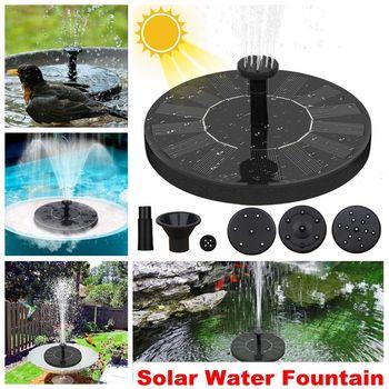 Solar Water Fountain Pool Pond Waterfall Fountain Garden Decoration Outdoor Bird Bath Solar Powered Fountain Floating Water