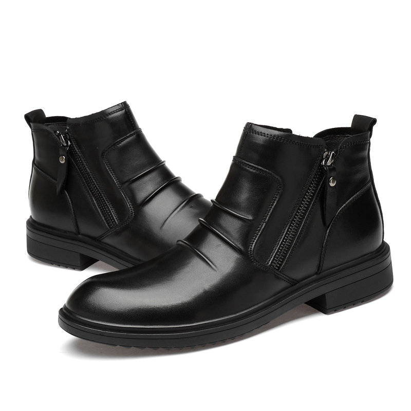 Hot Mens Business Dress Formall Pull On Real Leather High Top Ankle Boots Sz