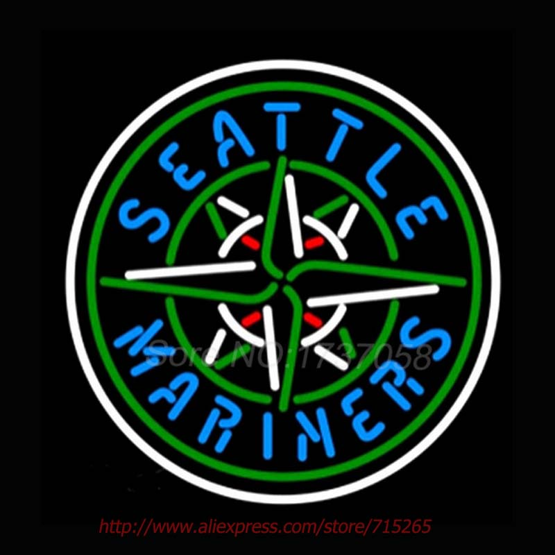 Seattle marimers Neon Sign For Room neon light Custom Arcade Glass Neon Light Sign Beer Bar Glass Tubes Sexy Lamp Leopard Neon image
