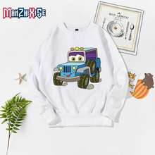 Limited Time Discount Boys Long Sleeve Pullover Tops Boy Clothing Girl Top Funny Cartoon Car Printing For Free Shipping