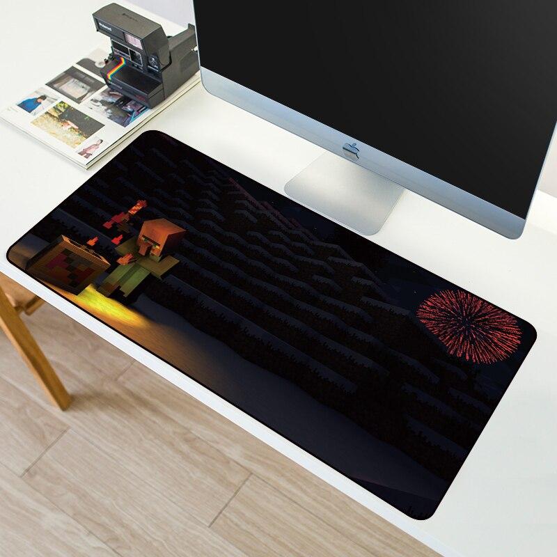 SOVAWIN 800x300mm Gaming Mouse Pad XXL MinecraftINGlys Slip Natural Mousepad Mat For Desktop Computer Laptop Locking Edge