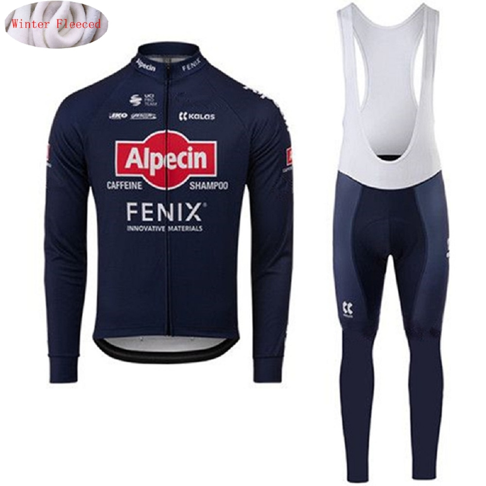 Cycling Clothing Set Jersey Warm Winter Fleece Pants Shirt Underwear Suits