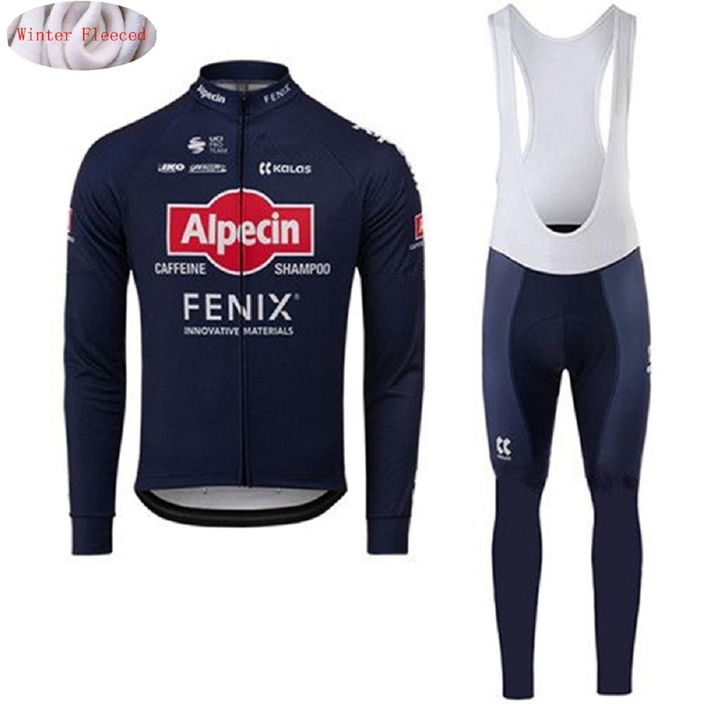 Alpecin Fenix 2020 ropa de invierno de manga larga, traje de Ciclismo, Jersey térmico de lana, chaqueta, camisa cálida, conjunto de pantalones de Ciclismo|Conjuntos de ciclismo|   - AliExpress