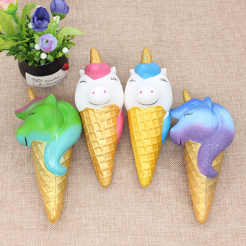 Jumbo Colorful Galaxy Unicorn Ice Cream Squishy Slow Rising Soft Creative Squeeze Toys Stress Relief Funny Xmas Gift Toy For Kid
