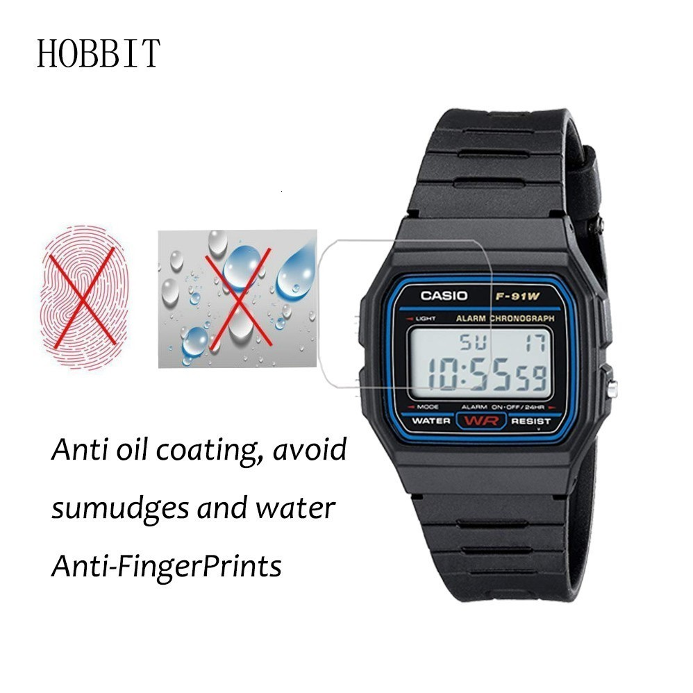 3PCS Nano Explosion-proof Screen Protector For Casio Men's Classic F91W-1 High Definition Anti-shock Smartwatch LCD Guard Film