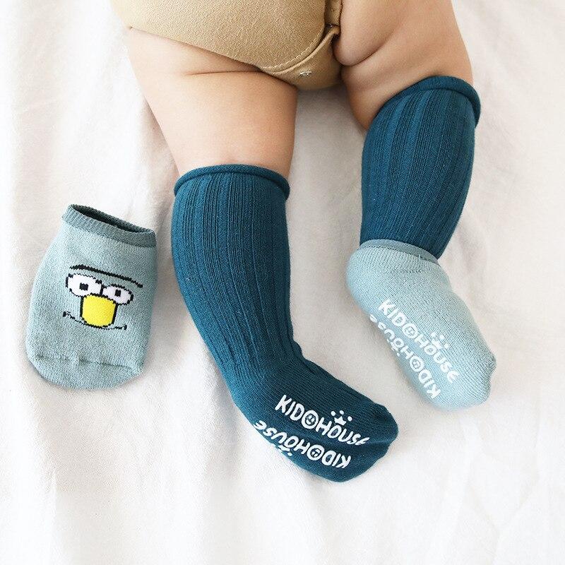 2 Pair/set Cute Cartoon Floor Socks Winter Thickening Warm Baby Non-slip Toddler Socks Combination Newborn Baby Socks For 0-3T