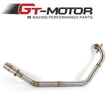 Motorcycle Full System Modified Middle Link Connecting Pipe Slip On Without Exhaust For Yamaha YZF R15 MT 15 MT 125 2008 2017