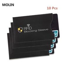 10 шт. набор противоугонных RFID карт протектор для банковских карт RFID кошелек замок рукав идентичность Противоугонный защитный чехол для карт