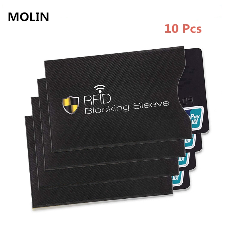 10pcs Set Of Anti-theft RFID Card Protector for Bank Card RFID Wallet Lock Sleeve Identity Anti-theft Protective Cover for Cards