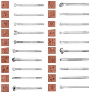 Image 3 - 59 Cái/bộ Da Thủ Công Cụ Tay May Khâu Đấm Chạm Khắc Công Việc Yên Xe Leathercraft Phụ Kiện