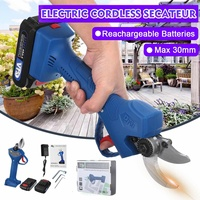 21V Rechargeable Electric Pruning Scissors Pruning Shears Garden Pruner Secateur Branch Cutter Cutting Tool w/ 2x Battery
