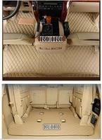 Alfombrillas especiales personalizadas para coche + alfombrilla para maletero para Toyota Land Cruiser 200 7 asientos 2020-2007 alfombras impermeables para coche LC200 2018