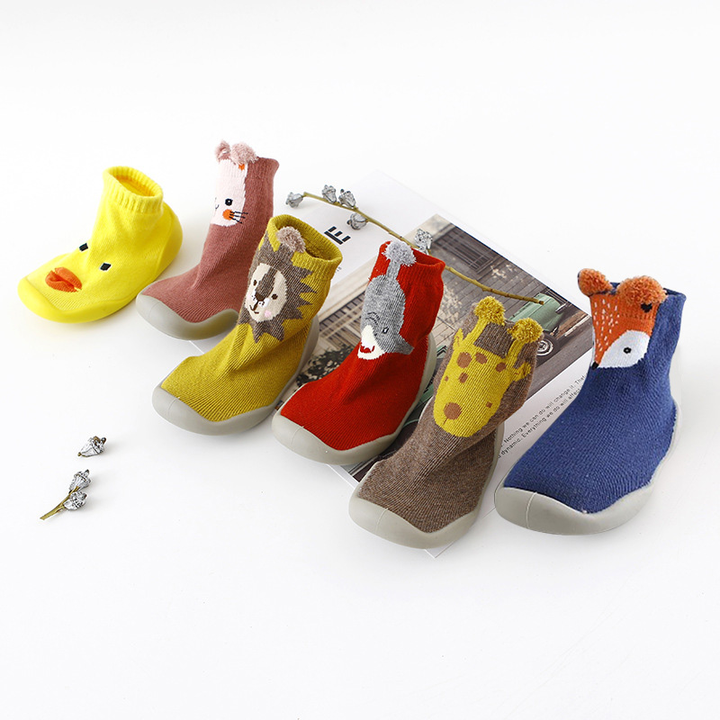 Baby Shoes First Shoes Baby Walkers Toddler First Walker Baby Girl Boy Kids Soft Rubber Sole Baby Shoe Knit Booties Anti-slip