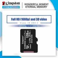 Original de Kingston tarjeta Micro SD de 16GB de tarjeta de memoria MicroSD de 128GB 32GB 64GB Class10 TF tarjeta MicroSD MicroSDXC UHS-1 4G 8GB Class4