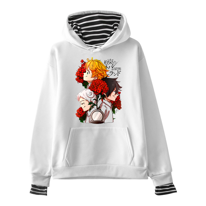 Womens Clothing The Promised Neverland Japan Anime Women Hoodies Unisex Long Sleeve O-Neck Casual Funny Harajuku Hoodies Women