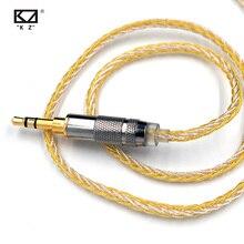 Kz 8コア金銀混合ケーブル2/mmcxコネクタkz ZS10プロ/zsn/zst/ES4/ZS10/AS10/BA10/zsnプロ