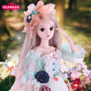 Image 1 - UCanaan 23.6 BJD SD Doll 19 Ball Joints Dolls with Clothes Outfit Shoes Wig Hair Makeup for Girls
