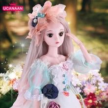 UCanaan 23.6 BJD SD bebek 19 bilyeli mafsal bebek giysileri kıyafet ayakkabı peruk saç kızlar için makyaj